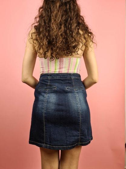 jupe en jean boutons années 2000 (12)