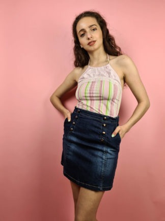 jupe en jean boutons années 2000 (3)