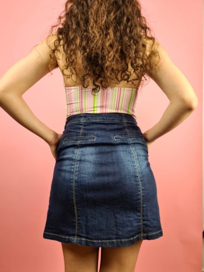 jupe en jean boutons années 2000 (9)