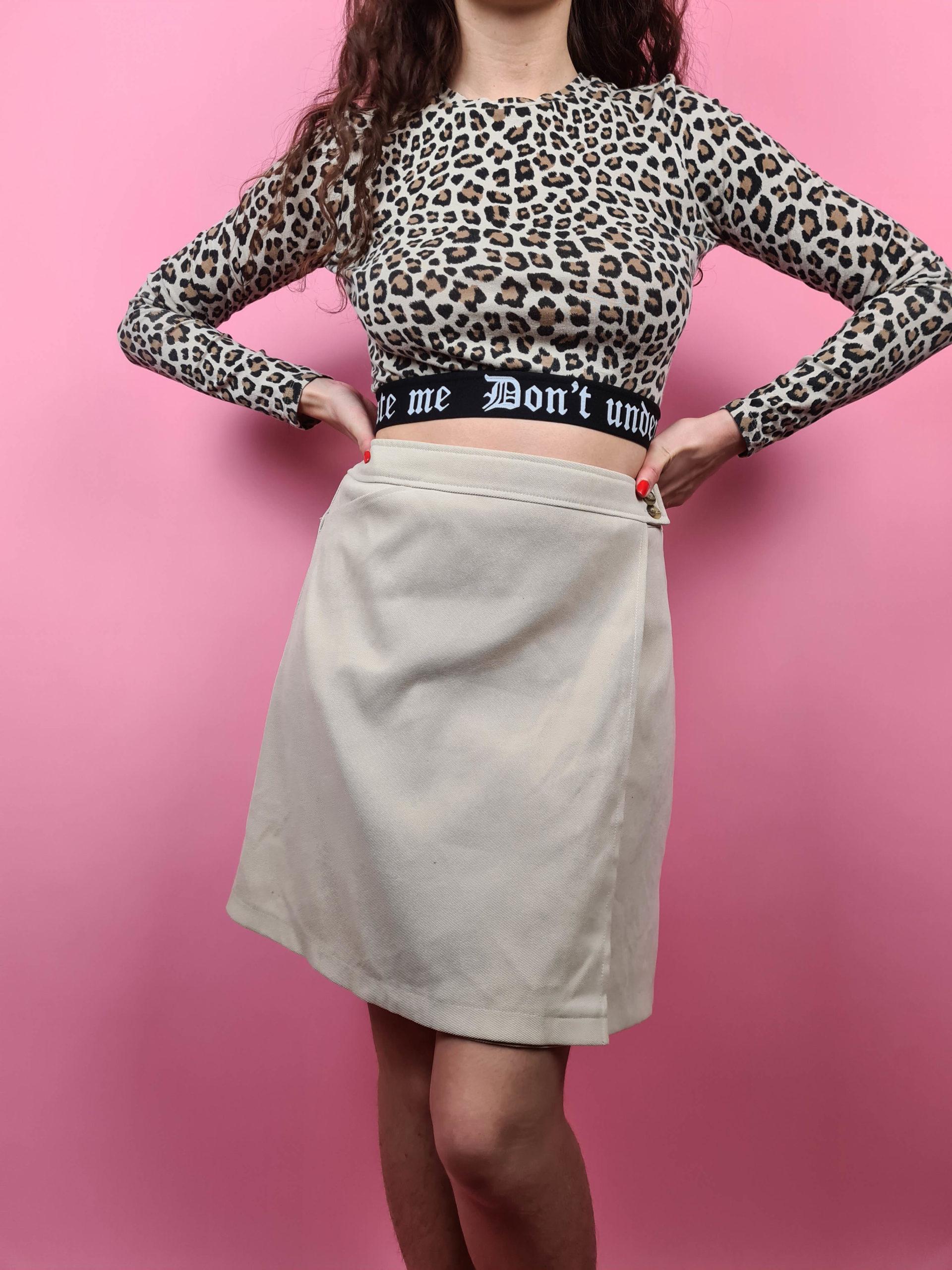 jupe portefeuille beige (4)