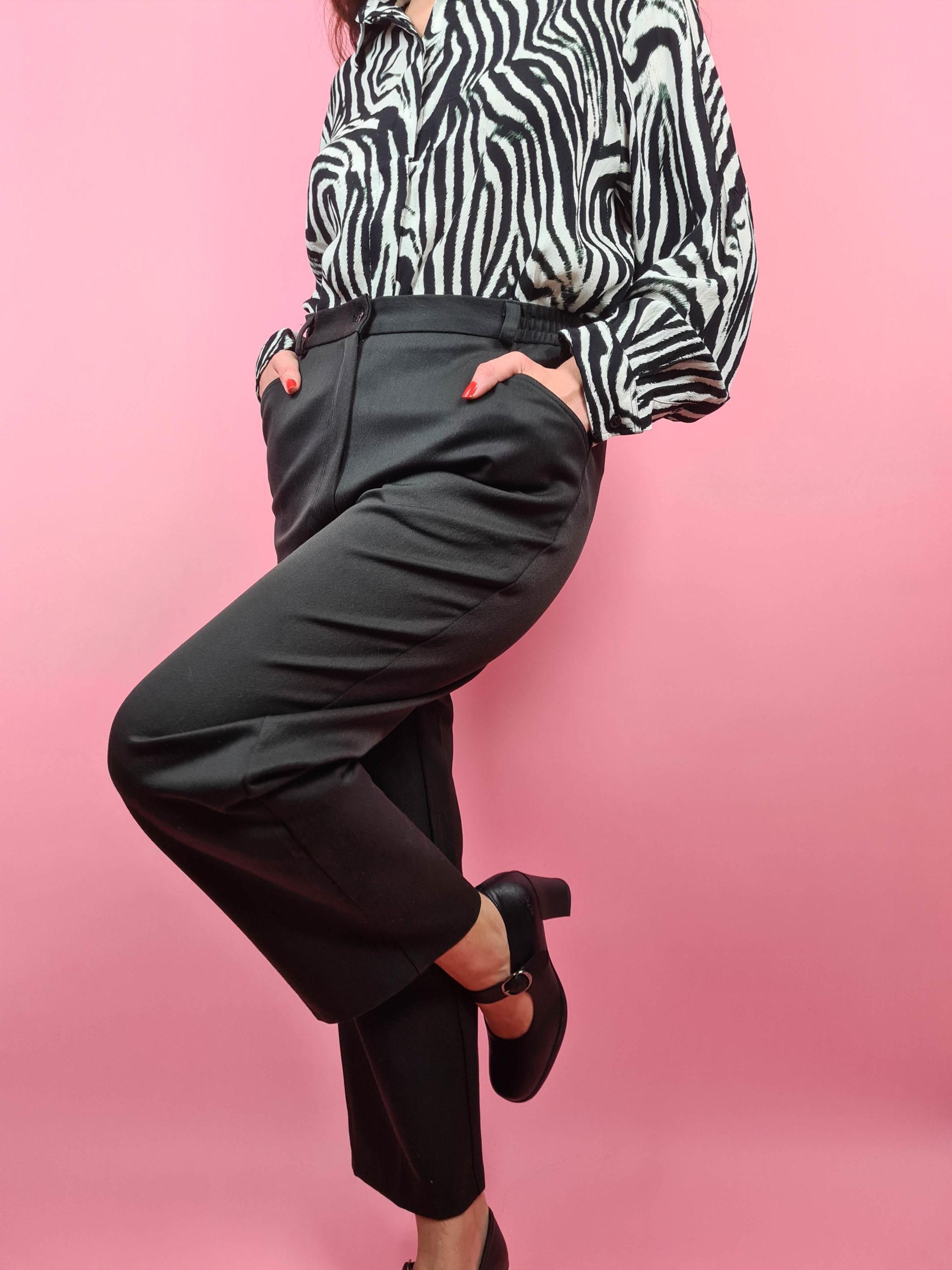 pantalon à pince noir (3)
