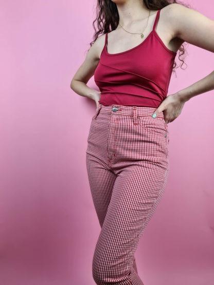 pantalon vichy rouge (1)
