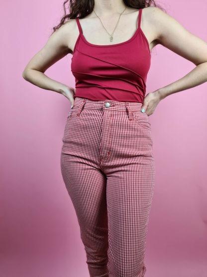 pantalon vichy rouge (2)