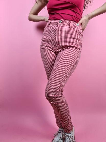 pantalon vichy rouge (5)