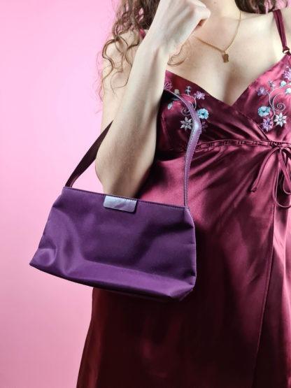 petit sac baguette violet (7)