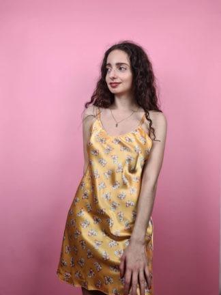 robe nuisette jaune à motif ourson (3)
