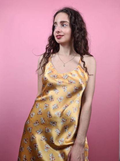 robe nuisette jaune à motif ourson (6)