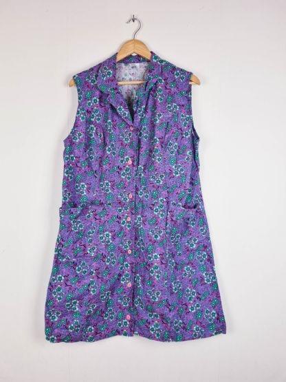 robe vintage violette à fleurs (7)