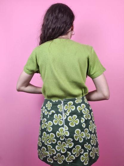 t-shirt vert anis cotelé (12)