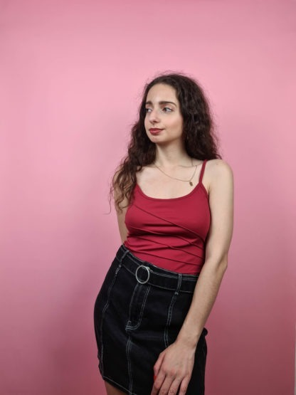 top rouge à couture apparente (2)
