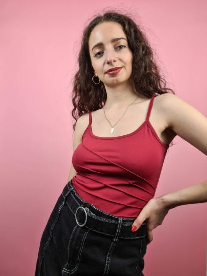 top rouge à couture apparente (4)