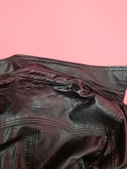 trench en cuir noir Gemo (10)