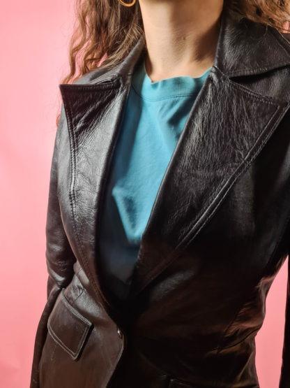 veste blazer noire en cuir (8)