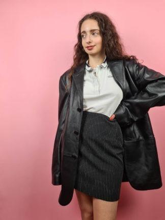 veste en cuir noire Oakwood (2)