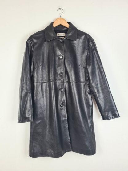 veste longue noire en cuir Anagram (10)