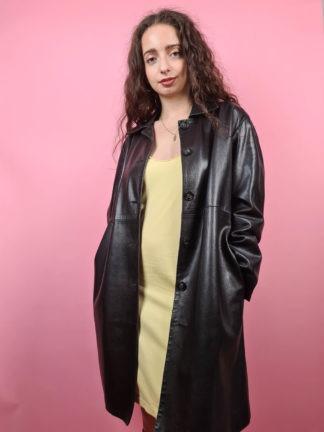 veste longue noire en cuir Anagram (3)