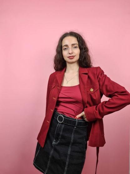 veste rouge ceinture (2)