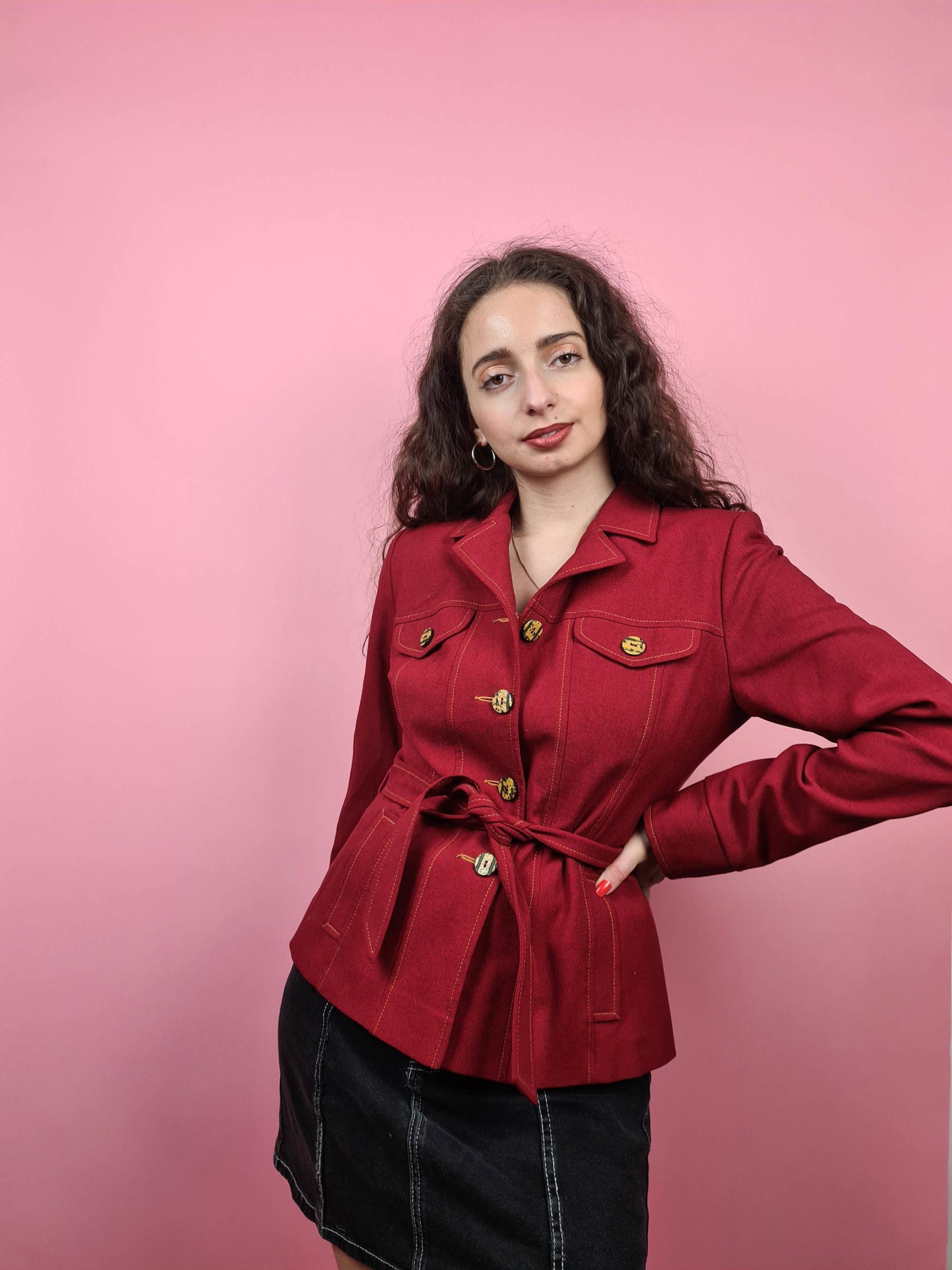 veste rouge ceinture (4)