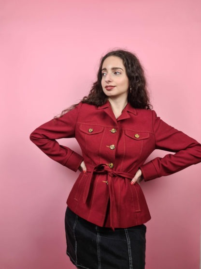 veste rouge ceinture (5)