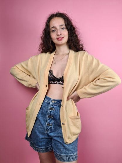 cardigan jaune vintage (4)