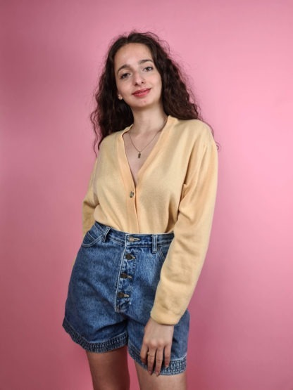 cardigan jaune vintage (7)