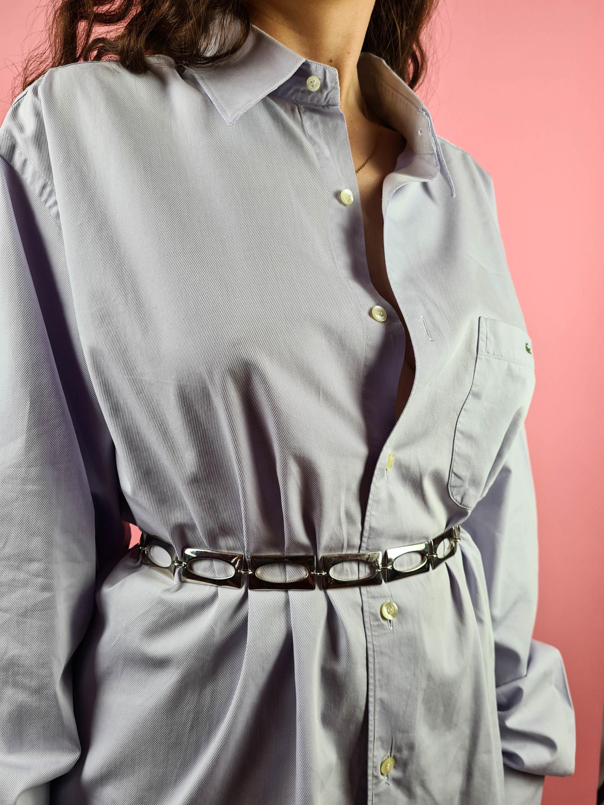 ceinture chaîne argentée rectangle (3)