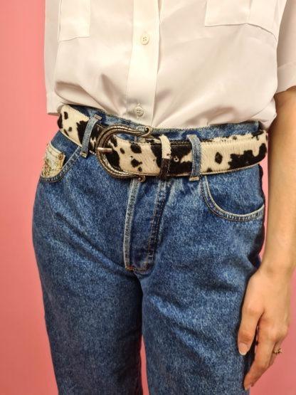 ceinture vache boucle argentée (2)