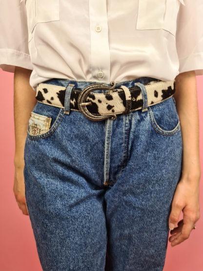 ceinture vache boucle argentée (3)