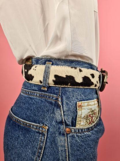 ceinture vache boucle argentée (4)