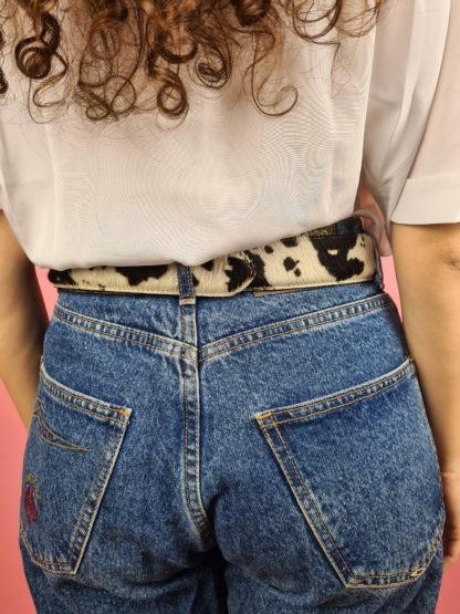 ceinture vache boucle argentée (5)