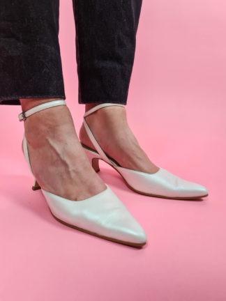 chaussures d'été blanches satinées (2)