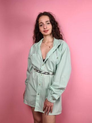 chemise d'homme vert anis (8)