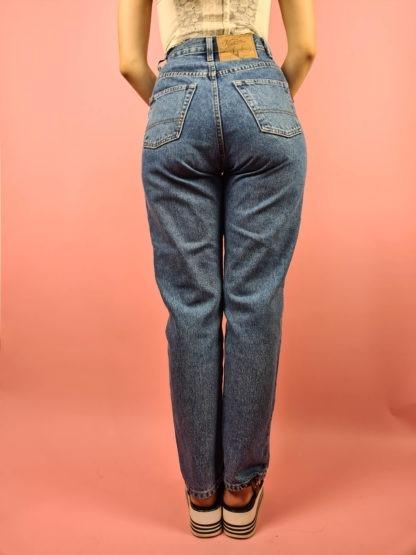 jean mom bleu taille haute Ober (9)