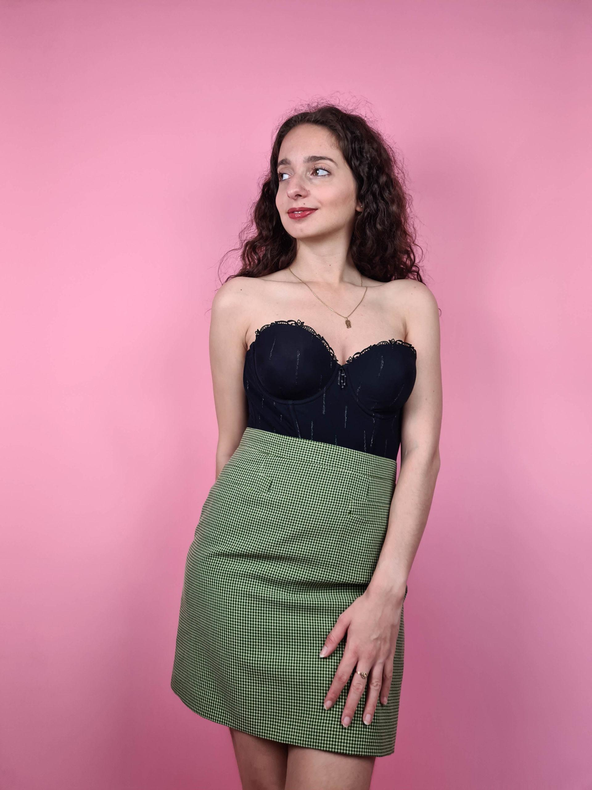 jupe à carreaux verte (2)
