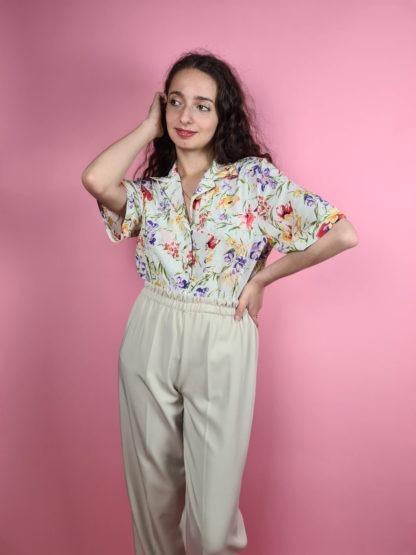 pantalon à pince beige (2)