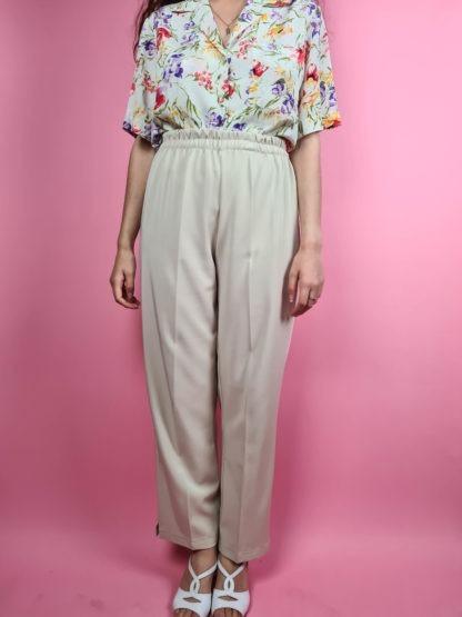 pantalon à pince beige (7)