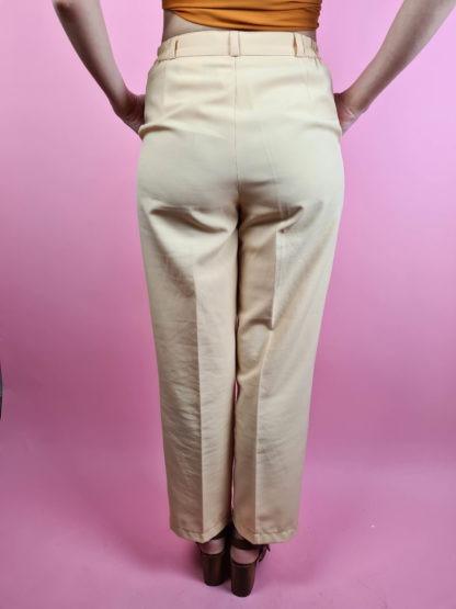 pantalon à pince jaune pastel (3)