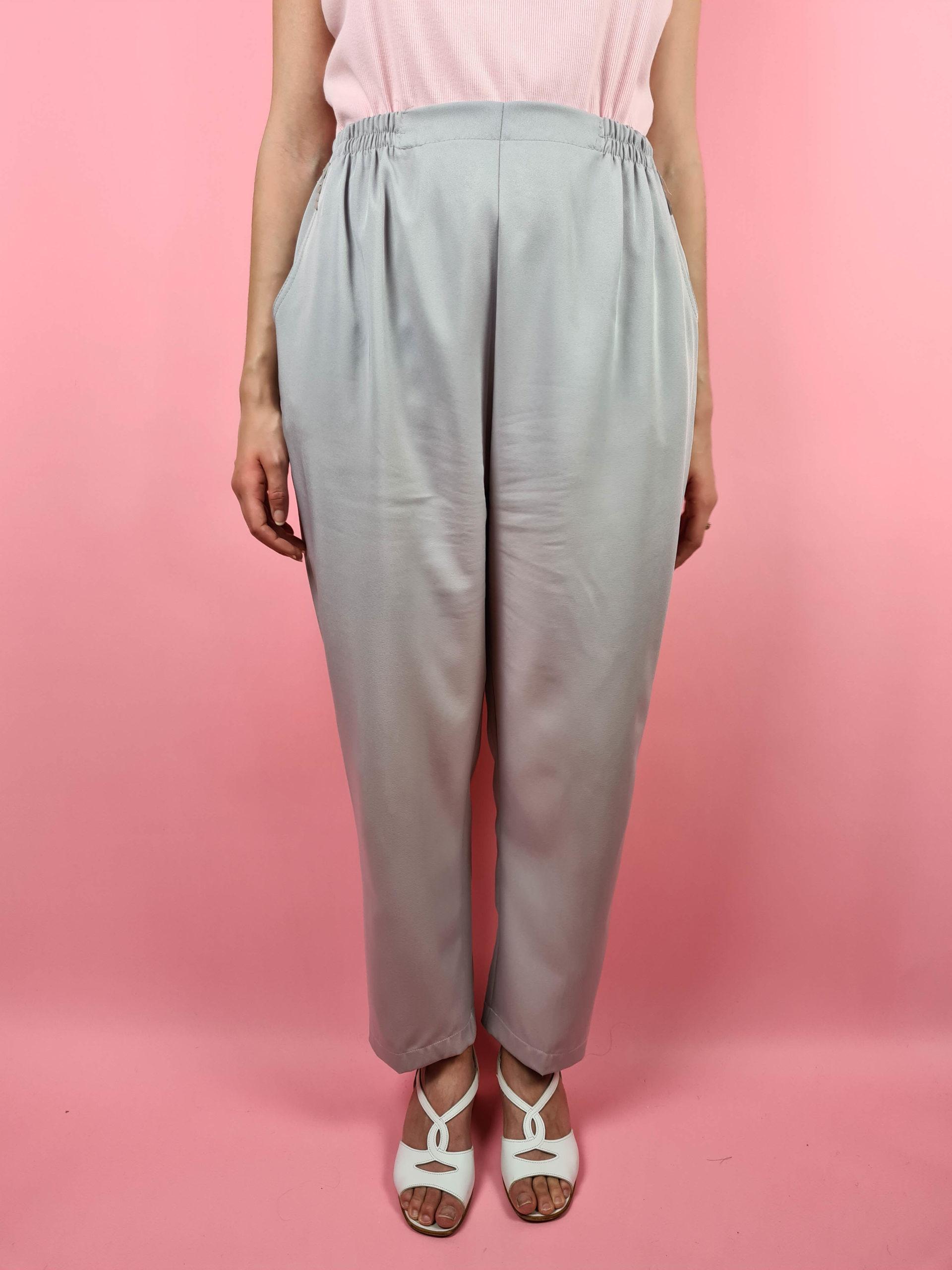 pantalon à pince lilas taille haute (9)