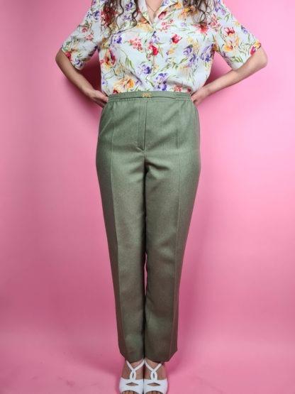 pantalon à pince vert (7)