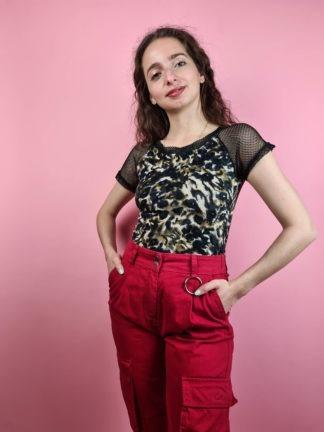 pantalon cargo rouge (2)