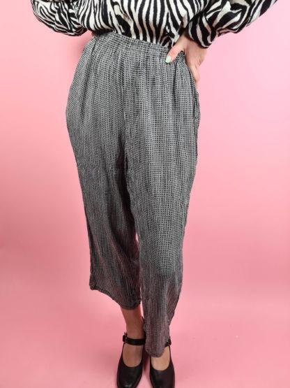 pantalon fluide noir et blanc (2)