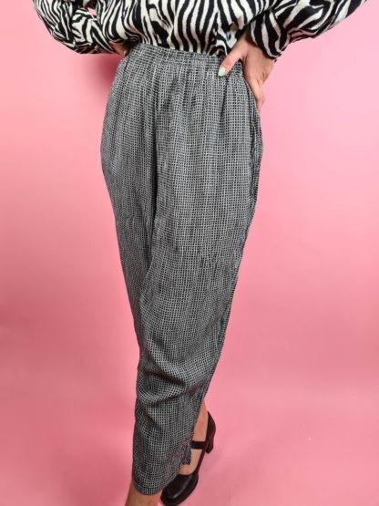 pantalon fluide noir et blanc (3)