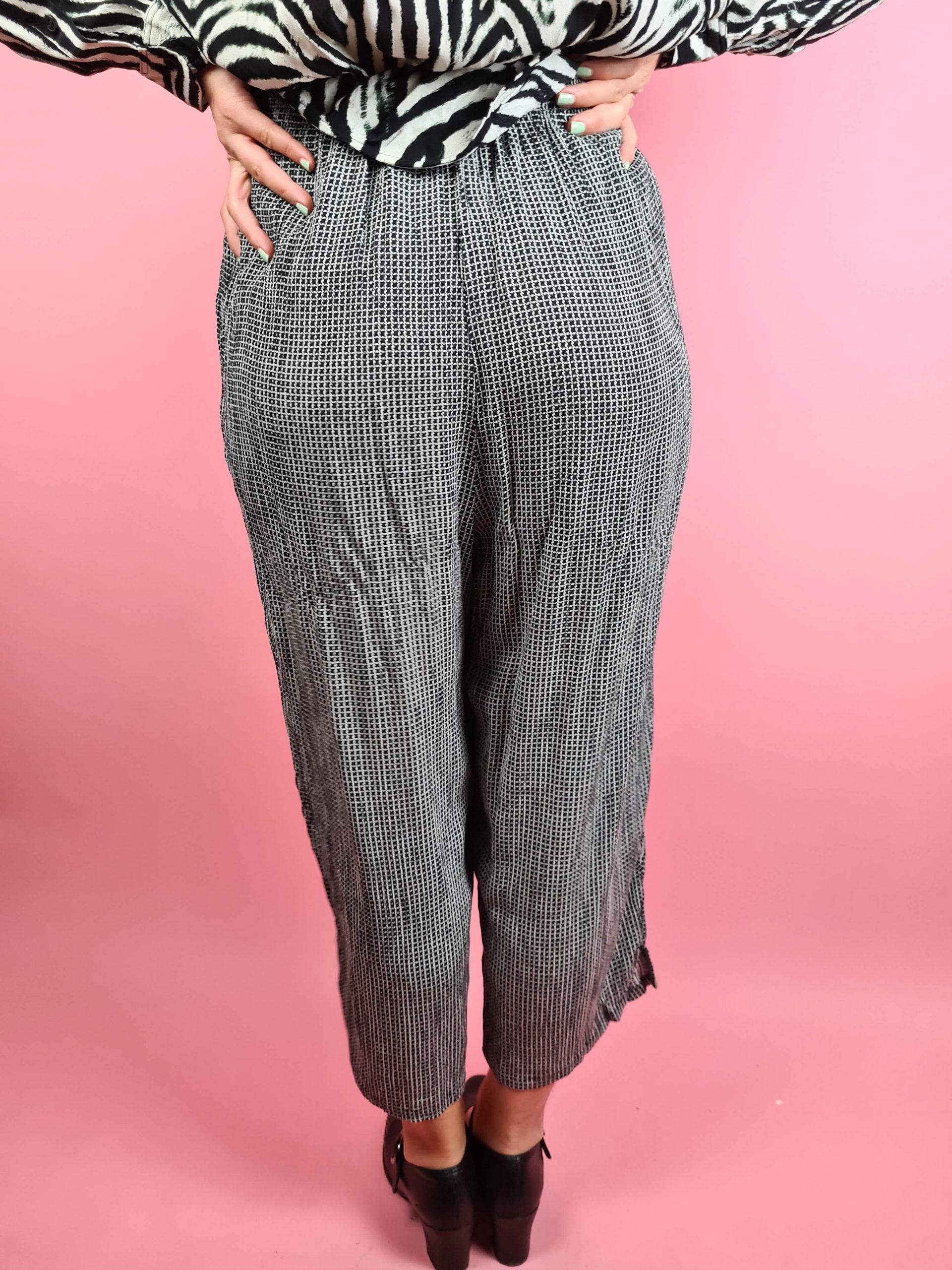 pantalon fluide noir et blanc (5)