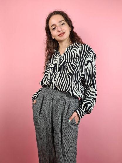 pantalon fluide noir et blanc (6)