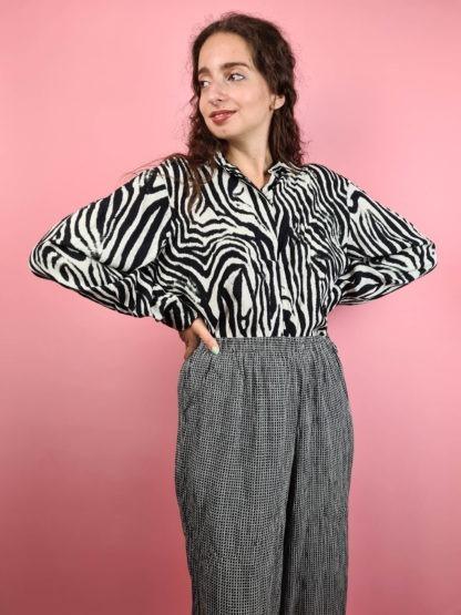 pantalon fluide noir et blanc (9)