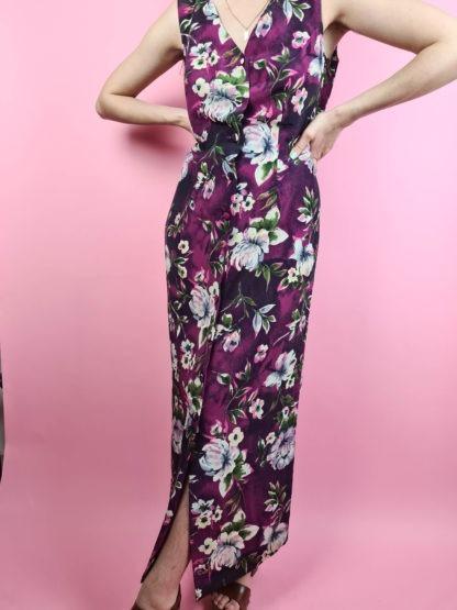 robe longue vintage aubergine (2)