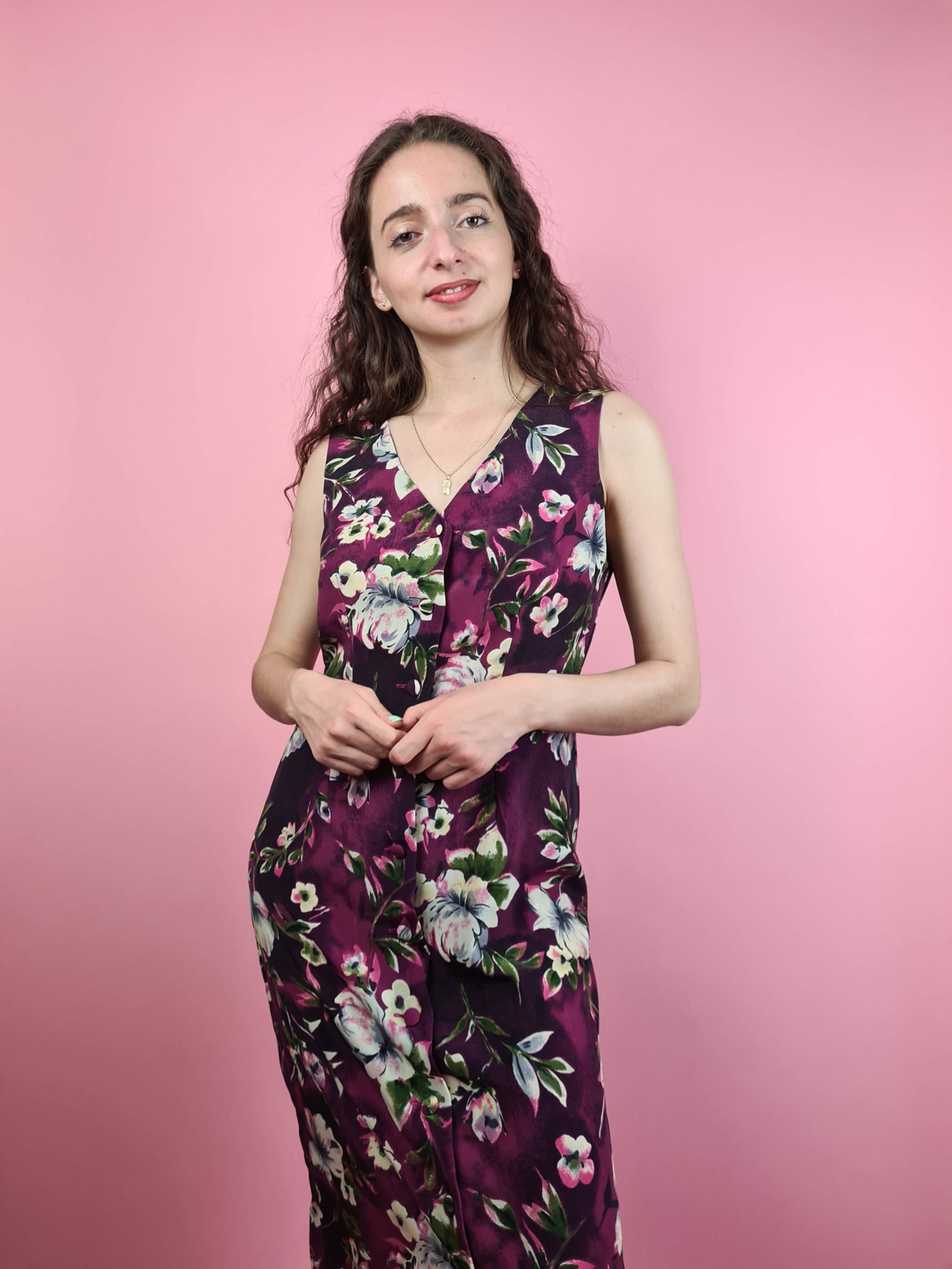 robe longue vintage aubergine (5)