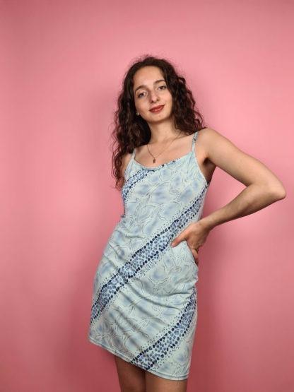 robe nuisette bleue pastel serpent (2)