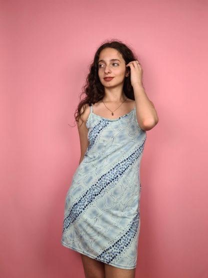 robe nuisette bleue pastel serpent (3)