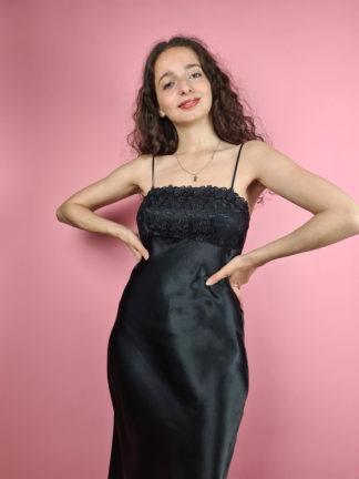 robe nuisette longue noire (2)